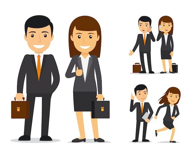Business team vector characters Premium Vector