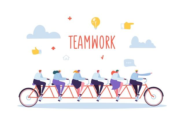 ビジネスチームの仕事と協力の概念 Premiumベクター