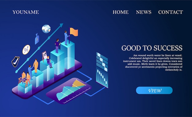 Business team working together to achieve goal. Premium Vector