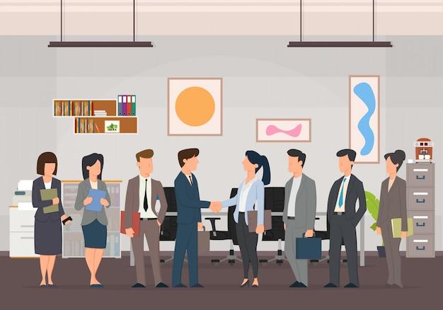 Соглашение о создании бизнес-команд. Premium векторы