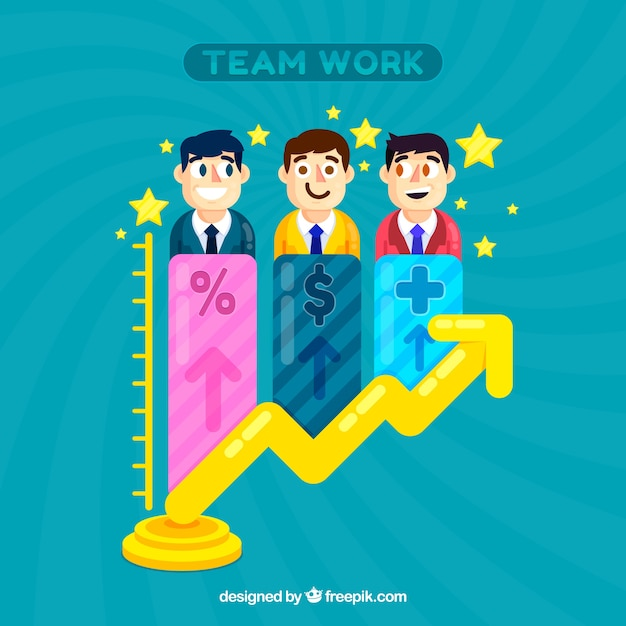 Business teamwork background