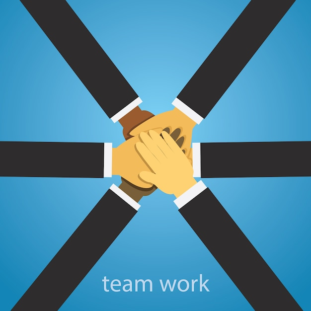 Business teamwork team hard work concept Premium Vector