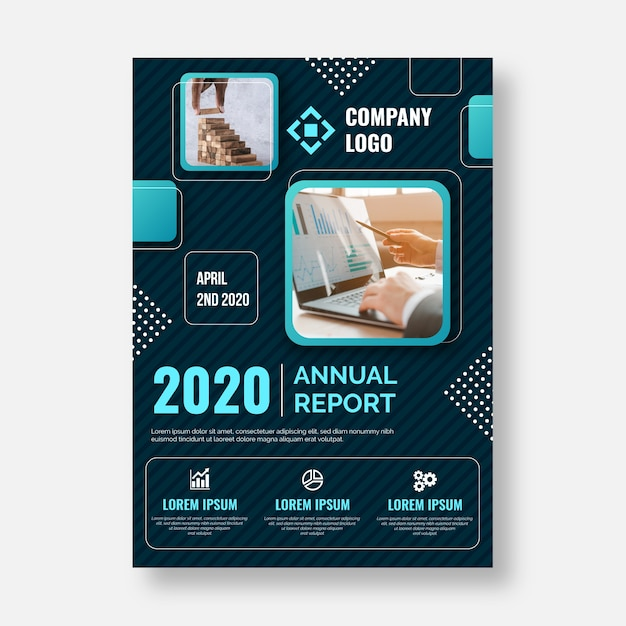 Business template concept Free Vector