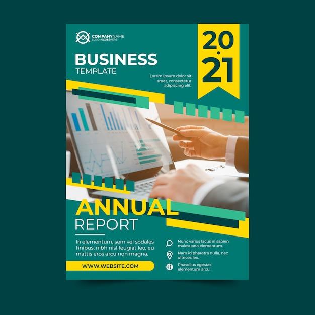 Rapporto annuale di progettazione del modello di affari Vettore gratuito
