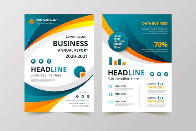 Business template design for company Free Vector