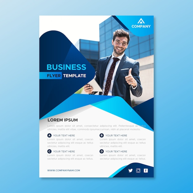 Business template design Free Vector