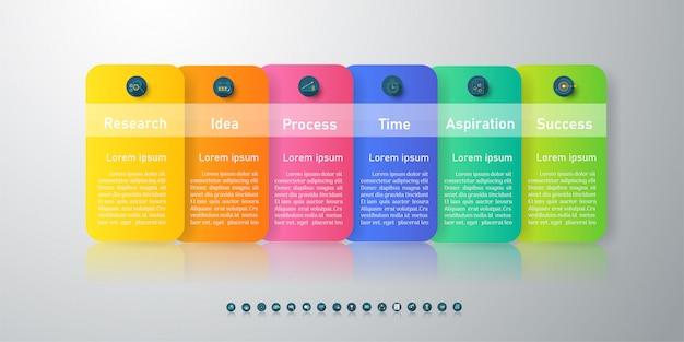 Business template infographic chart element. Premium Vector