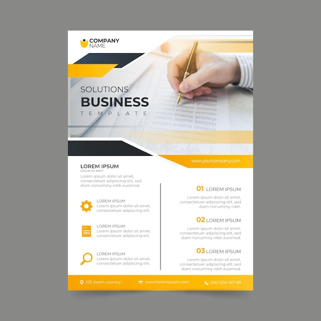 Business template poster design Free Vector