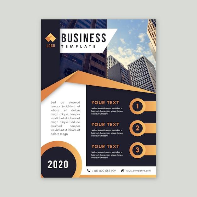 Бизнес шаблон с фото Premium векторы