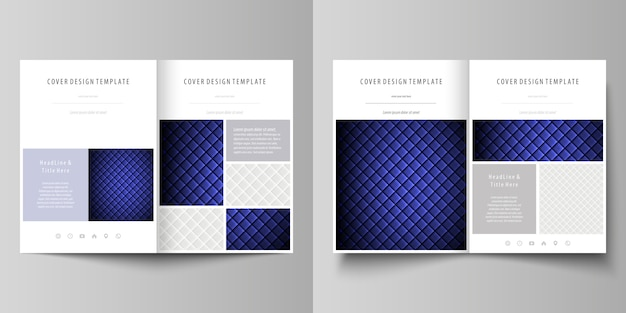 Business templates for bi fold brochure Premium Vector