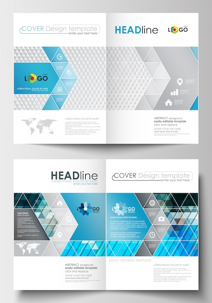 Business templates for brochure, magazine, flyer, booklet or report. Premium Vector