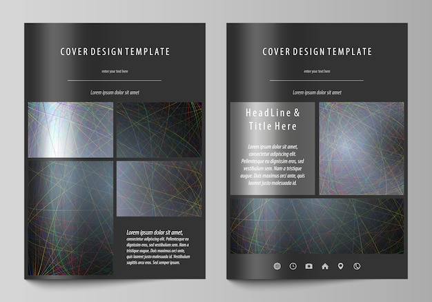 Business templates for brochure Premium Vector