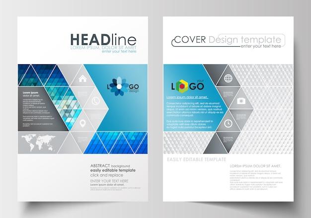 Business templates for brochure Premium Vector