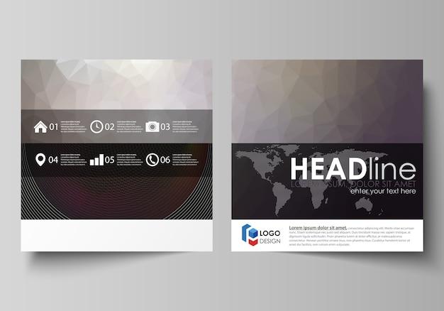 Business templates for square design brochure, Premium Vector
