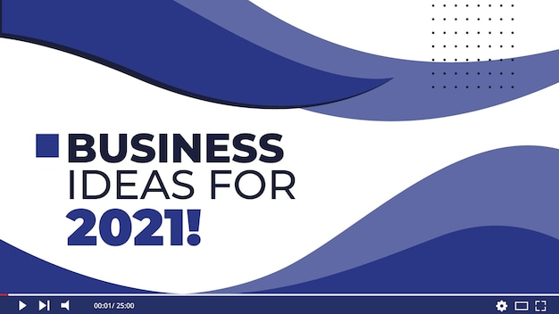 Business thumbnail template Free Vector
