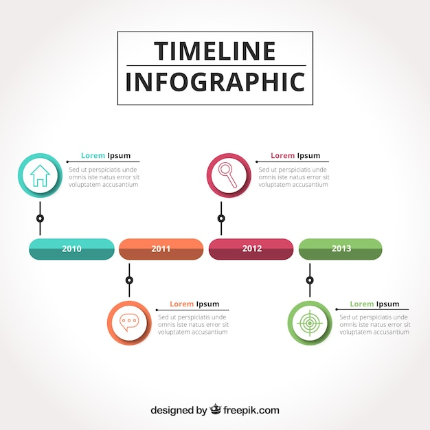 Business time line with colorful style