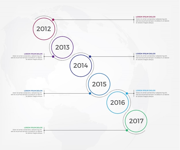 Business timeline workflow infographics Premium Vector