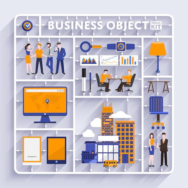 Business tools kit vector Premium Vector