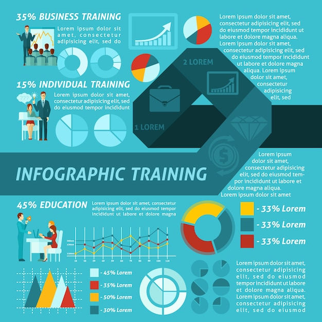 Business training infographics Free Vector