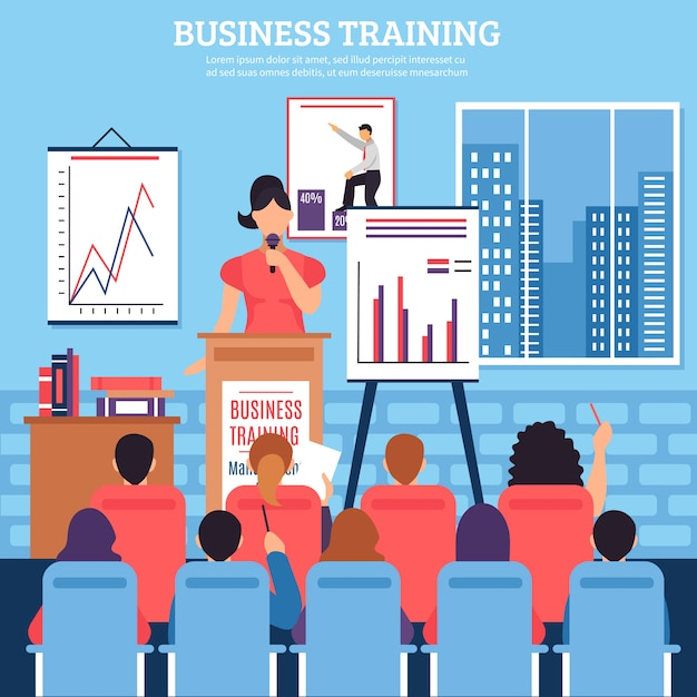 Business training template Free Vector