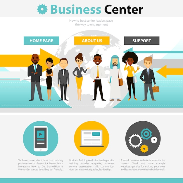 Business training web page infographics Free Vector