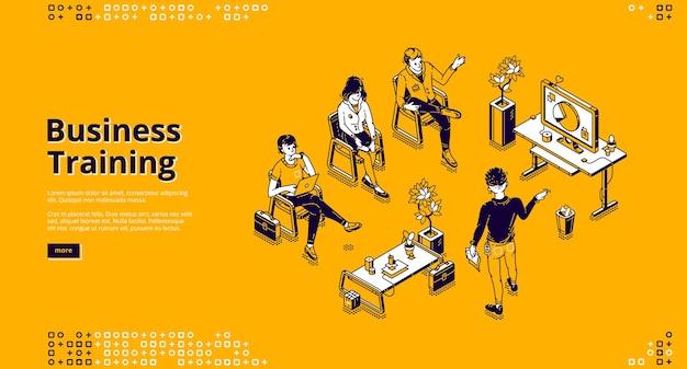 Modello web di formazione aziendale. conferenza, seminario e lezione per l'apprendimento professionale Vettore gratuito