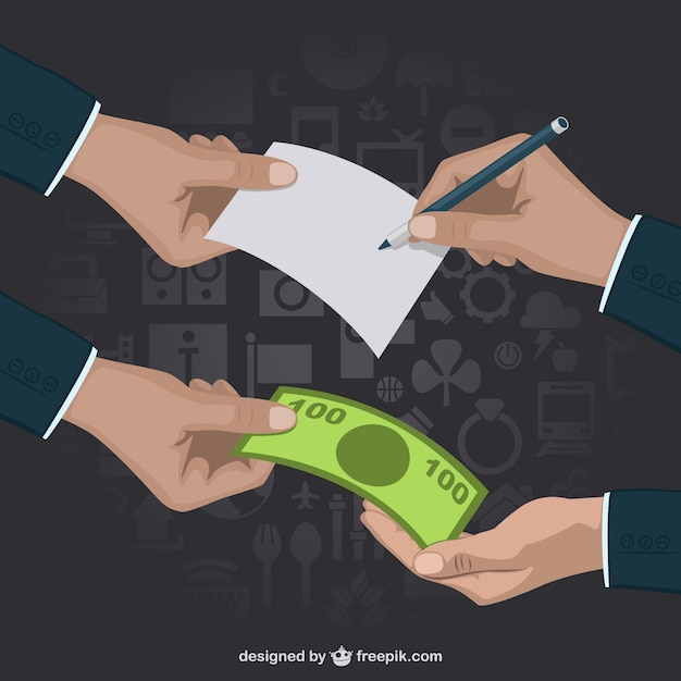 Business transaction Free Vector