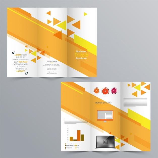 tri fold brochure format