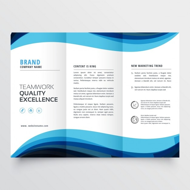 business trifold brochure template free vector