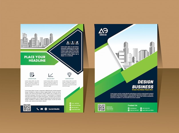 Business vector set brochure template layout cover design Premium Vector