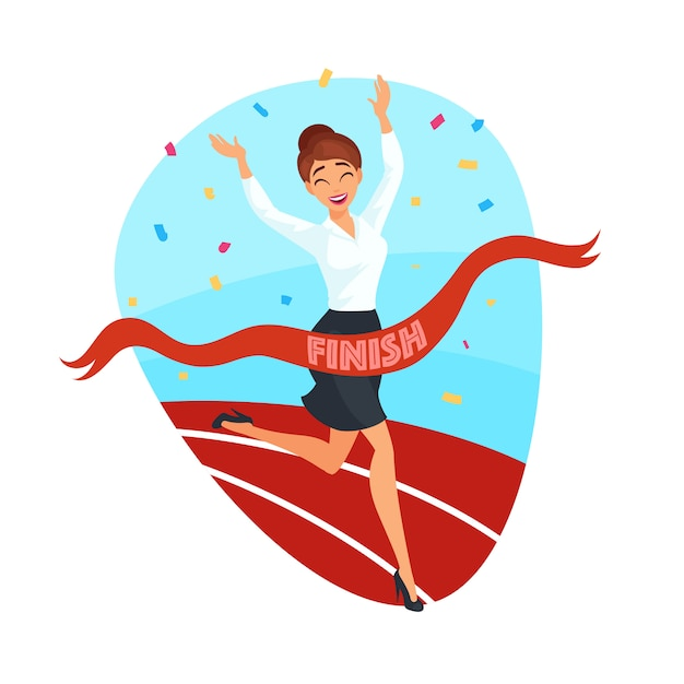 Business victory concept Free Vector