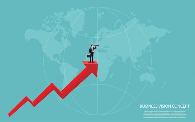 Business vision concept 5 Premium Vector
