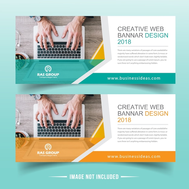 Business Web banner design Premium Vector