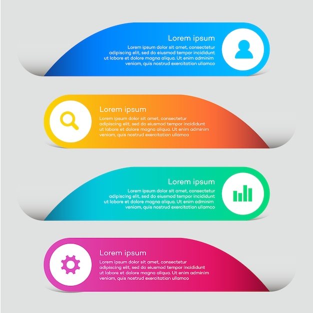 Business Web Elements With Infographic Design Vector