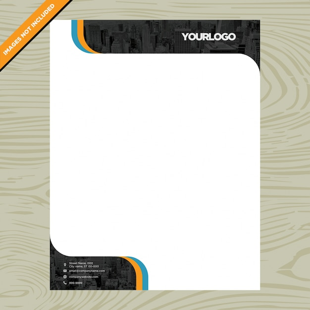 Business white paper brochure with logo Free Vector