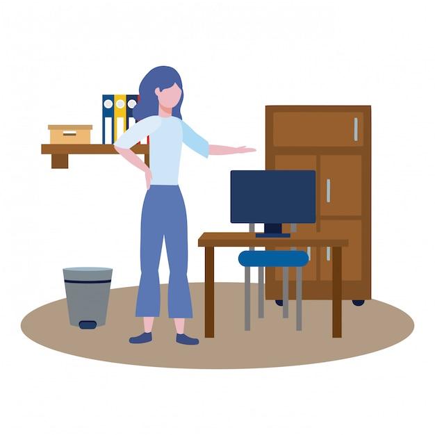 Business woman avatar of cartoon Free Vector