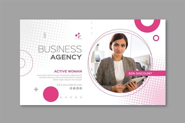 Modello di banner donna d'affari Vettore gratuito