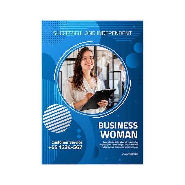 Шаблон флаера деловой женщины Premium векторы