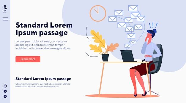 Business woman missing her deadline Free Vector