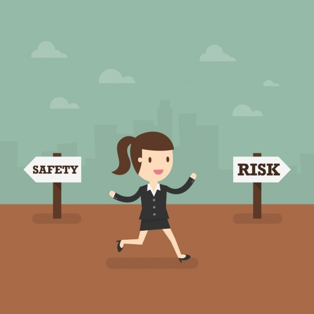Business woman taking de risky way Free Vector