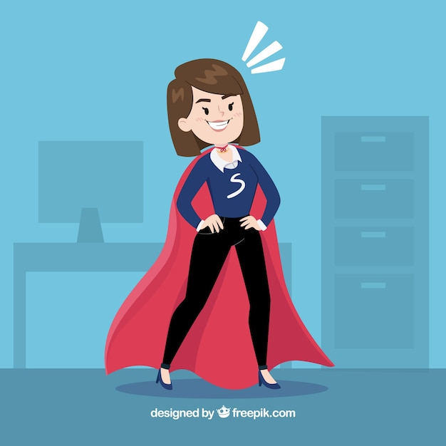 Business woman with coat Free Vector