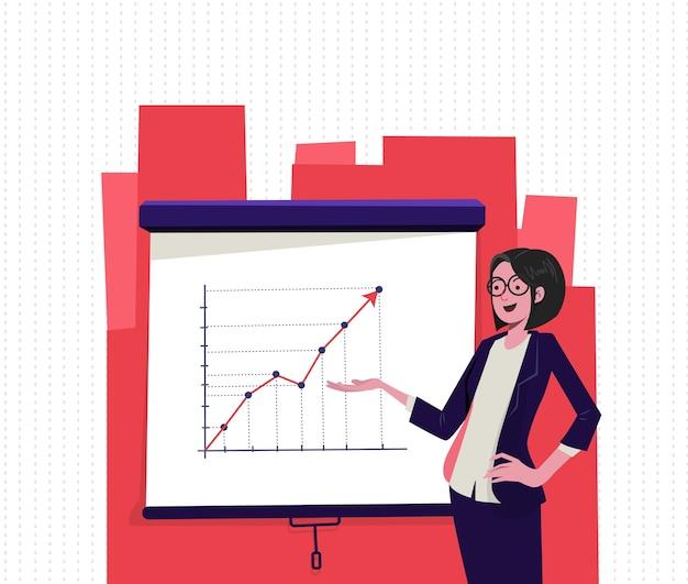 Business woman Premium Vector