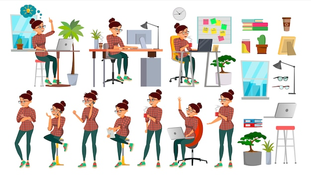 Business woman Premium Vector