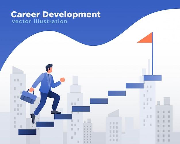 Businessman career development Premium Vector