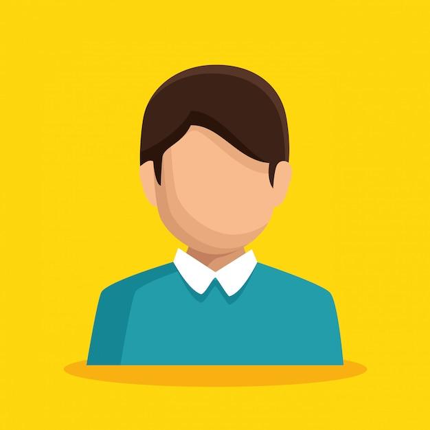 Бизнесмен персонаж аватар изолированные Бесплатные векторы