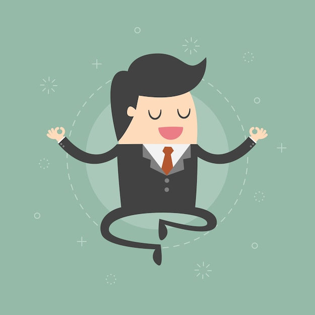 Businessman character relaxing Free Vector