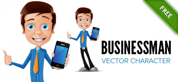 Download Vector - Businessman character and target