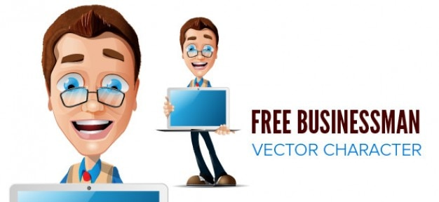 Download Vector - BUSINESSMAN VECTOR CHARACTER - Vectorpicker