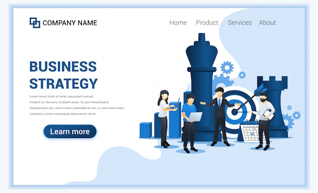 Businessman and co workers are planning a business strategy . business metaphor, leadership, target achievement. flat  illustration Premium Vector