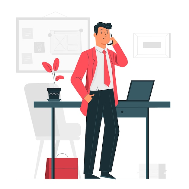 Иллюстрация концепции бизнесмена Бесплатные векторы